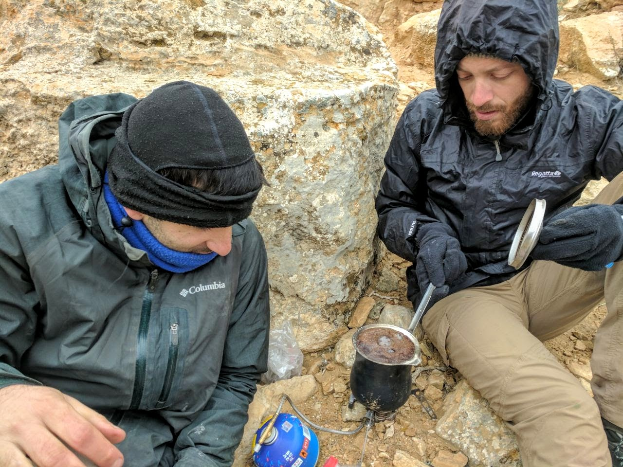 הפסקת קפה מתחת להר רמון